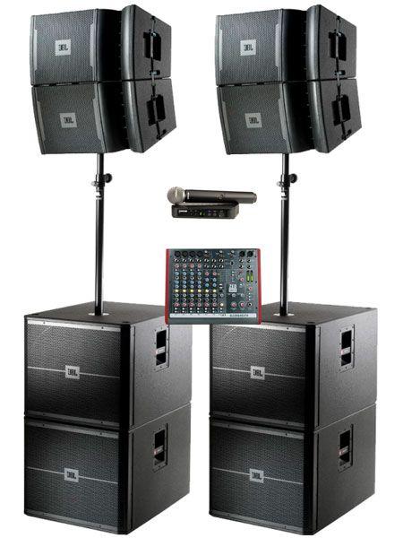 Аренда звуковых комплектов 4 х Акустические системы JBL VRX 4 х Сабвуфер JBL VRX